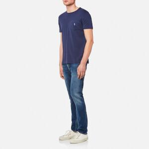 Polo Ralph Lauren Men's Logo Jersey Short Sleeve T-Shirt - Newport Navy: Image 3