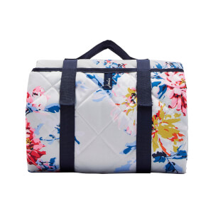 Joules Quilted Picnic Rug - Grey Whitstable Floral