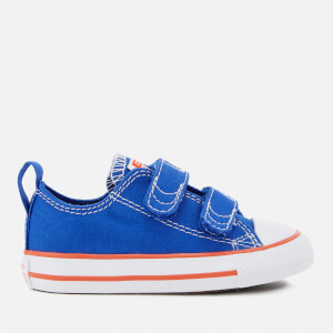 Converse Toddlers' Chuck Taylor All Star 2V Ox Trainers - Hyper Royal/Bright Poppy/White