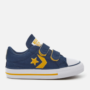 Converse Toddler's Star Player Ev 2V Ox Trainers - Navy/Mineral Yellow/White
