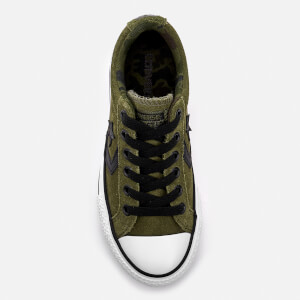 Converse Kids' Star Player Ox Trainers - Herbal/White/Black: Image 3