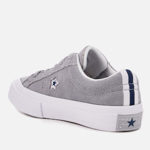 Converse Kids' One Star Ox Trainers - Wolf Grey/White/Navy: Image 2