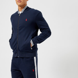 Polo Ralph Lauren Men's Tipped Baseball Jacket - Cruise Navy