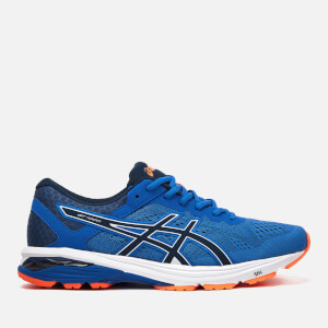 Asics Running Men's GT-2000 6 Trainers - Victoria Blue/Dark Blue/Shocking Orange