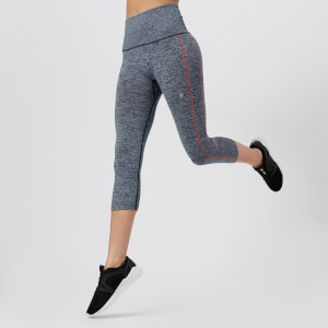 Asics Running Women's Cool Capri Tights - Dark Blue/Coralicious
