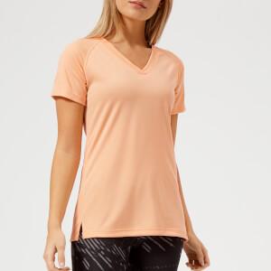 Asics Running Women's V Neck Short Sleeve Top - Apricot Ice