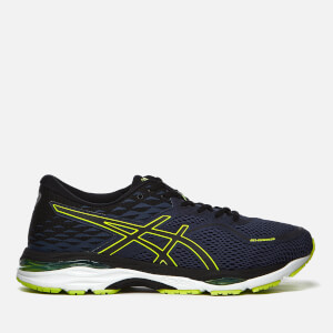 Asics Running Men's Gel-Cumulus 19 Trainers - Indigo Blue/Black/Safety Yellow