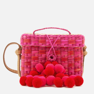 Nannacay Women's Roge Small Pompom Bag - Pink/Red