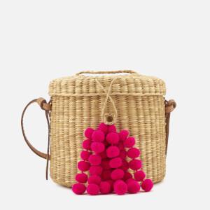 Nannacay Women's Ana Blossom Bucket Bag - Off White/Pink