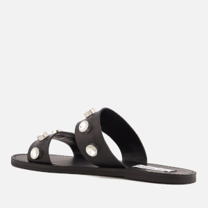 Steve Madden Women's Jessy Leather Double Strap Sandals - Black: Image 2