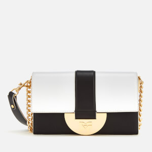 Diane von Furstenberg Women's Bonne Journee Halfmoon Bag - White/Black/Pebble