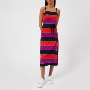 A.P.C. Women's Jude Striped Jersey Dress - Fuchsia