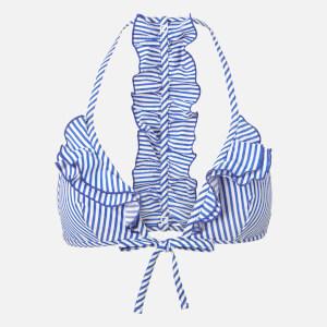 Tommy Hilfiger Women's Frill Bikini Top - Blue