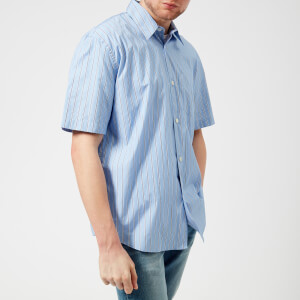 Our Legacy Men's Initial Short Sleeve Shirt - Navy Stripe