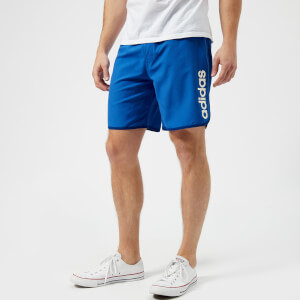 adidas Men's Split Side Logo Swim Shorts - Hi Res Blue