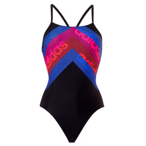 adidas Fit 1 Piece Line Print Swimsuit - Legend Ink