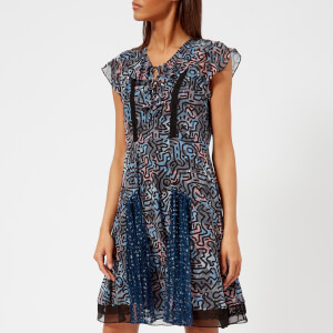 Coach 1941 Women's Coach X Keith Haring Frilled Dress - Dark Blue