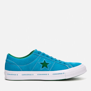 Converse One Star Ox Trainers - Hawaiian Ocean/Jolly Green/White