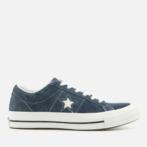 Converse One Star Ox Trainers - Navy/White