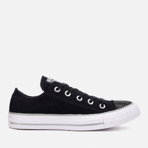 Converse Women's Chuck Taylor All Star Ox Trainers - Black/Silver/White