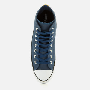 Converse Men's Chuck Taylor All Star Hi-Top Trainers - Navy/Black/White: Image 3