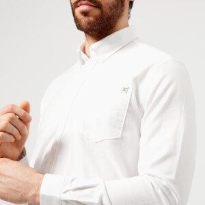 Barbour Heritage Men's Lang Long Sleeve Shirt - White