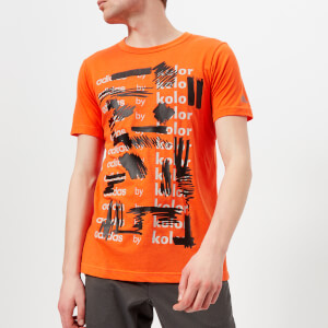 adidas by kolor Men's Graphic Short Sleeve T-Shirt - Orange