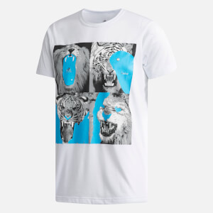 adidas by kolor Men's Graphic Short Sleeve T-Shirt - White
