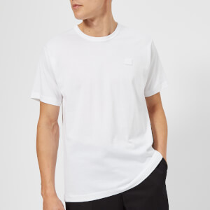 Acne Studios Men's Nash Face Logo Crew Neck T-Shirt - Optic White: Image 1