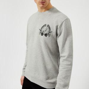 Versace Jeans Men's Small Wreath Logo Sweatshirt - Grigio