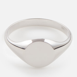 Miansai Men's Sterling Silver Signet Ring - Polished Silver