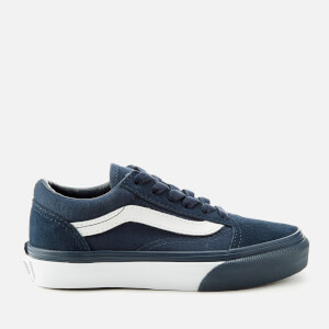 Vans Kids' Mono Bumper Old Skool Trainers - Dress Blue/True White
