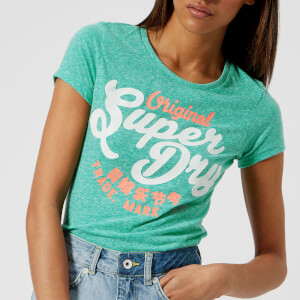 Superdry Women's New Original Entry T-Shirt - Spearmint Snowy