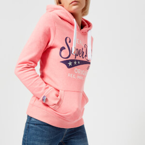 Superdry Women's Real Originals Entry Hoody - Fluro Pink Grit