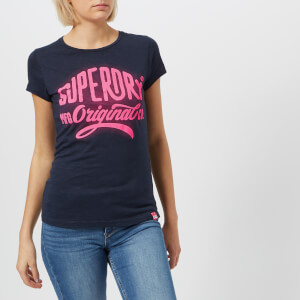 Superdry Women's Glow Entry T-Shirt - Eclipse Navy Slub