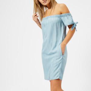 Superdry Women's Alexia Off Shoulder Dress - Acid Wash Vacation Blue