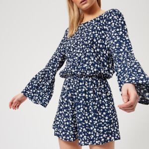 MINKPINK Women's Shady Days Crew Neck Playsuit - Blue