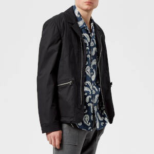 Wooyoungmi Men's Zip Biker Blazer - Blue