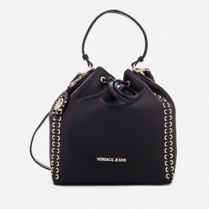 Versace Jeans Women's Whip Stitched Bucket Bag - Black