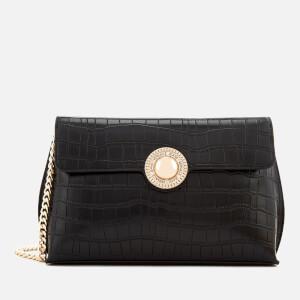 Versace Jeans Women's Croc Print Shoulder Bag - Black
