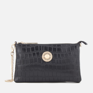 Versace Jeans Women's Croc Print Clutch Bag - Black