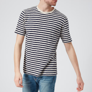 Folk Men's Classic Stripe T-Shirt - Ecru Navy