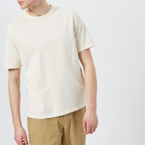 Folk Men's Panel Stitch T-Shirt - Ecru Desert Red