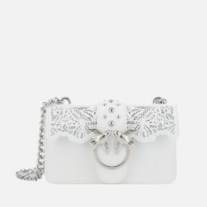 Pinko Women's Mini Love Macrame Cross Body Bag - White