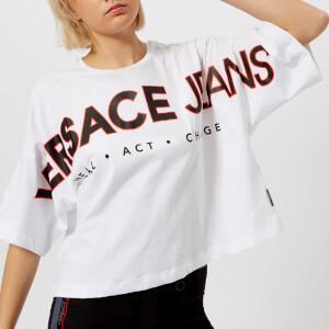 Versace Jeans Women's Oversized Logo T-Shirt - White