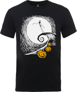 T-Shirt Disney The Nightmare Before Christmas Jack Skellington Pumpkin King Black