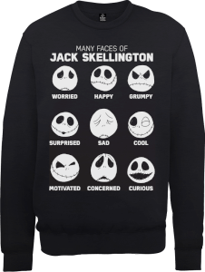 Disney The Nightmare Before Christmas Jack Pumpkin Faces Black Sweatshirt