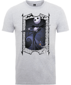 Disney The Nightmare Before Christmas Jack Skellington Zero Pose Grey T-Shirt