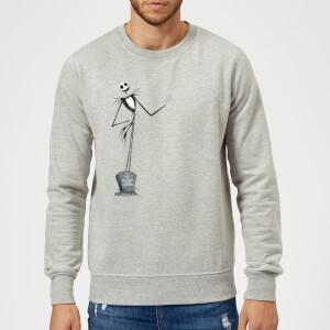 Disney The Nightmare Before Christmas Jack Skellington Full Body Grey Sweatshirt