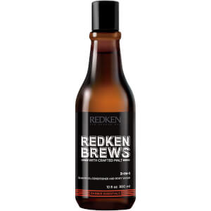 Redken Brews Shampoo, Conditioner and Body Wash -pesuaine hiuksille ja vartalolle, 300ml